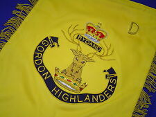 Gordon Highlanders Bagpipe Banner | Royal Bagpipe | Hand Embroidered by Geoffrey