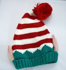 unisex Christmas elf hat wool bobble hat  bnwt beanie hat