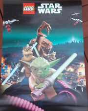 Lego Star Wars Yoda A3 Poster - NEW - 42cm x 30cm Approx with lightsaber tube