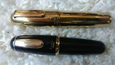 Vintage tombow 828 Zoom 'Egg' fountain pen and a rollerball - rare collectible