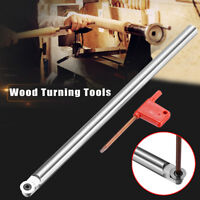 Wood Turning Carbide Tool Chisel R6 Round Tip Bit Lathe Straight Set+ T15 Wrench