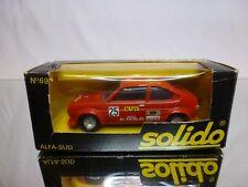 SOLIDO 69 ALFA ROMEO ALFASUD - RALLY #25 - RED 1:43 - GOOD CONDITION IN BOX