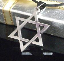 #S065 Hexagram / Star of David 316L Stainless Steel Men's Necklace Pendant