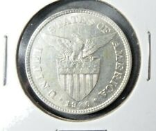 1920 - (M) US /Philippines 50 Fifty Centavos Coin Extra Fine / AU 420,000 Minted