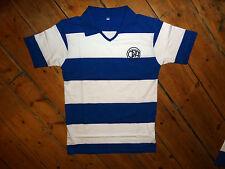 Queens Park Rangers Fc Calcio Camicia + VECCHIO DISTINTIVO retrò anni 1970 QPR Soccer Jersey