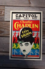Charlie Chaplin in City Lights Lobby Card Movie Poster