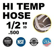 "HIGH TEMP SILICONE TUBING  1/2"" .500 ID TUBE HOME BREWING KETTLE HOSE PER FOOT"
