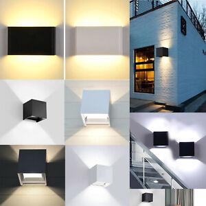 Modern LED Wall Light Up Down Sconce Lamp Outdoor Waterproof Balcony 6W 12W RK