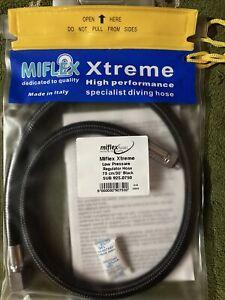 """Miflex Xtreme LP Regulator Hose 3/8"""" Connection Black 75cm"""