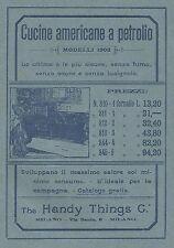 Y2124 The Handy Things - Cucine americane a petrolio - Pubblicità del 1903 - Ad