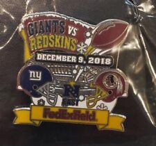 NEW YORK GIANTS vs WASHINGTON REDSKINS 12/9/18 Game Day Pin FREE SHIPPING
