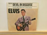 "Elvis ‎– (You're The) Devil In Disguise - 7"" Vinyl Single 1977 -   REF.7292"