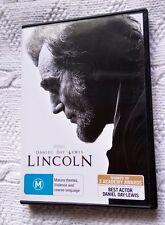 LINCOLN- STARRING DANIEL DAY-LEWIS (DVD) R-4, LIKE NEW, FREE POST IN AUSTRALIA