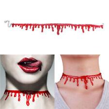 Choker Punk Necklace For Halloween Gift Gothic Velvet Vampire Blood Drop Bottle