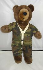 Ira Green Vintage 1987 Camouflage Gear Plush Paratrooper Bear 19""