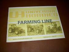 UNIVERSAL HOBBIES Katalog 2007 - 42 Seiten - Modellautos Traktor Landwirtschaft