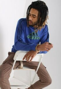Vintage Adidas Sweatshirt Hoodie Blue (RL) - SIZE SMALL S - UU5