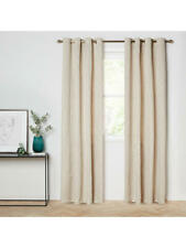 JOHN LEWIS Gold TEORA Eyelet Lined CURTAINS 167 x 228 cm NEW