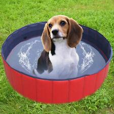 Pool Piscina Bañera de Plástico para Perros Animales Tarifa Plegable Jardín
