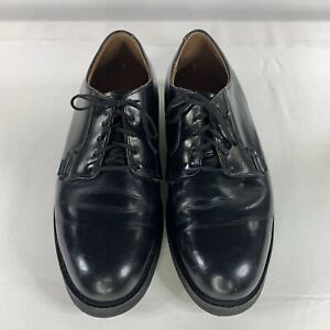 RED WING Heritage Collection BLACK Style 101 POSTMAN OXFORD Shoes US Size 10 H
