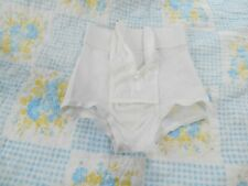 VINTAGE FOR MEN  LARGE WHITE SUPPORT BRIEF  USA MADE OLD