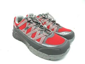 Keen Utility Men's Asheville Alloy Toe ESD Casual Work Shoes Magnet/Racing Red