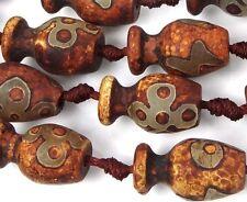 20-24mm Tibetan Old Agate Vase Pendant Focal Beads (6)