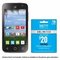 Net10 Alcatel POP Star 2 + $20 Unlimited Plan - Unlimited Talk, Text, 1GB Data