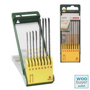 Bosch Jigsaw Blade Set 8 Piece with U-Shank For Wood & Metal - 2607019459