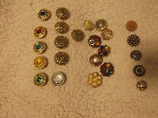 New listing Vintage Lot of 24 10 Marked Nony New York Button Covers Gold Toned Jeweled Sets