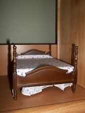 LOVELY WALNUT BED FOR YOUR DOLL HOUSE