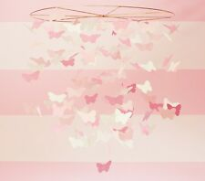 Pottery Barn Kids Pink White Butterlies Mobile Chandlier - New in box