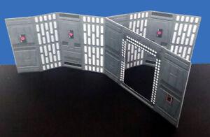 Death Star Open Door Hallway Wall 3.75 Star Wars TVC Hasbro Kenner Free Shipping