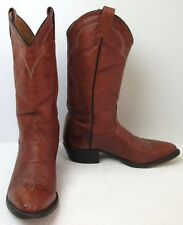 Men's Tony Lama 5084 Chestnut Brown Leather Cowboy Western Boots Sz 9 M