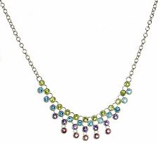 Marilyn & Co Solid 925 Sterling Silver Multi-Color Gemstone Necklace '