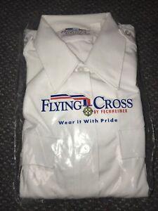 Flying Cross White Uniform Shirt 36 L Duro Poplin