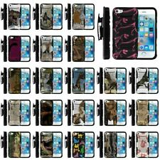 For Apple iPhone SE | 5s Clip + Holster + Case Combo Kickstand Dinosaur Theme