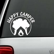 F1007 HAPPY CAMPER CAMPING Decal Sticker for Car Truck SUV Van LAPTOP TENT WALL