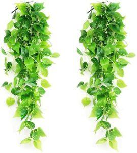 2Pc Artificial Ivy Trailing Vine Fake Foliage Flower Leaf Hanging Garland Plants