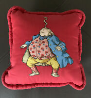 Whimsical Red Small Decorative Pillow 11x11