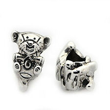 Baby Tiger Charm European Bead Compatible for Most European Snake Chain Bracelet