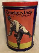 CRACKER JACK Collectible Tin Baseball Player Advertising Tin Empty 1992  A13