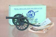 BRITAINS 1263 Artillería Real pistola cañón VERDE OSCURO Versión Menta En Caja