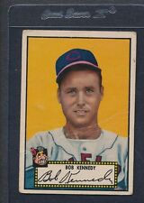 1952 Topps Black #077 Bob Kennedy Indians Poor *35