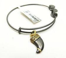 ALEX and ANI  Rafaelian Black Gunmetal Tiger's Claw Bracelet with Charms