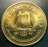 1987 Lakeshore Coin Club General Hospital $1 Trade Dollar with COA