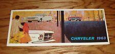 Original 1963 Chrysler Full Line Sales Brochure 63 New Yorker Newport 300