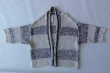 VINCE 3/4 SLEEVE KNIT TEXTURED OPEN CARDIGAN, HSO Stripe, Size M/L, MSRP $425
