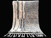 Rug Moroccan Berber Beni Ourain Handmade 100% Wool Area Rug, Berber Carpet