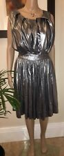 Vivienne Westwood ~ Anglomania Gardner Silver Pleat Dress 42 UK10
